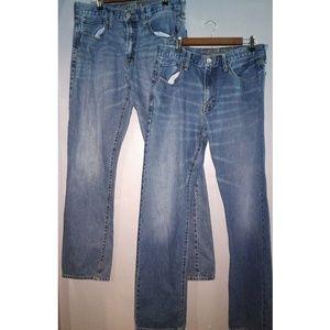 American Eagle (2) Pair jeans 34 x 36 men's NICE!!